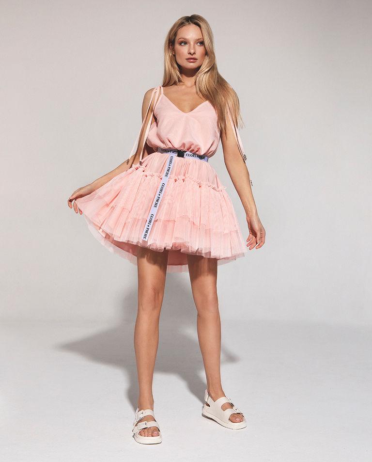 Brzoskwiniowa sukienka PEACH PRINCESS Cuori e Picche