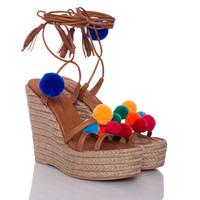 Sandály na klínku Holi