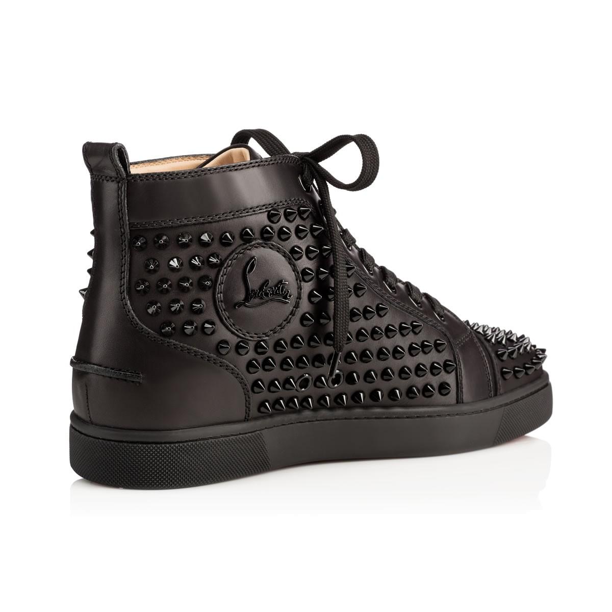 louis vuitton shoes red bottoms for men