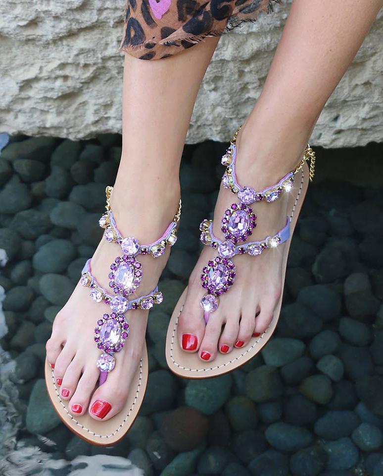 Sandały z kryształami Mystique
