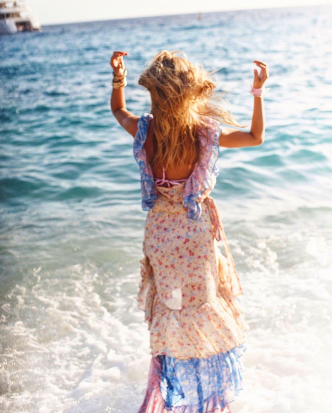 sukienka love shack fancy ocean dziewczyna