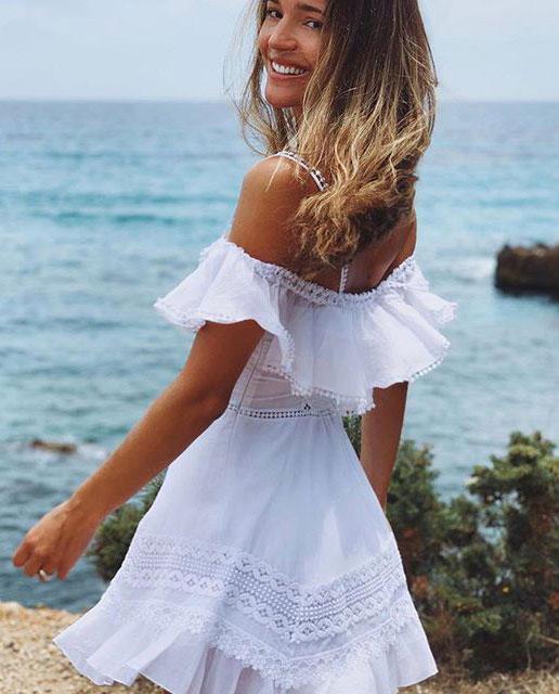 dziewczyna biała sukienka charo ruiz ibiza