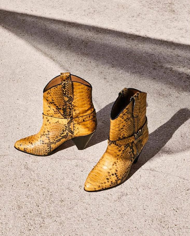 Kowbojki żółte Isabel Marant