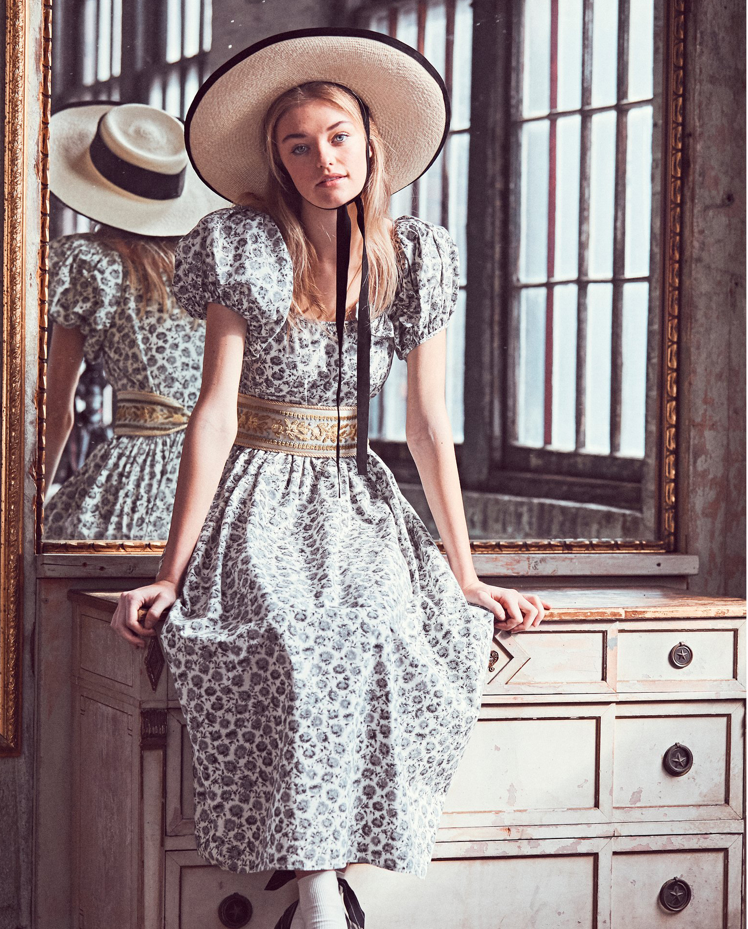 modelka sukienka love shack fancy