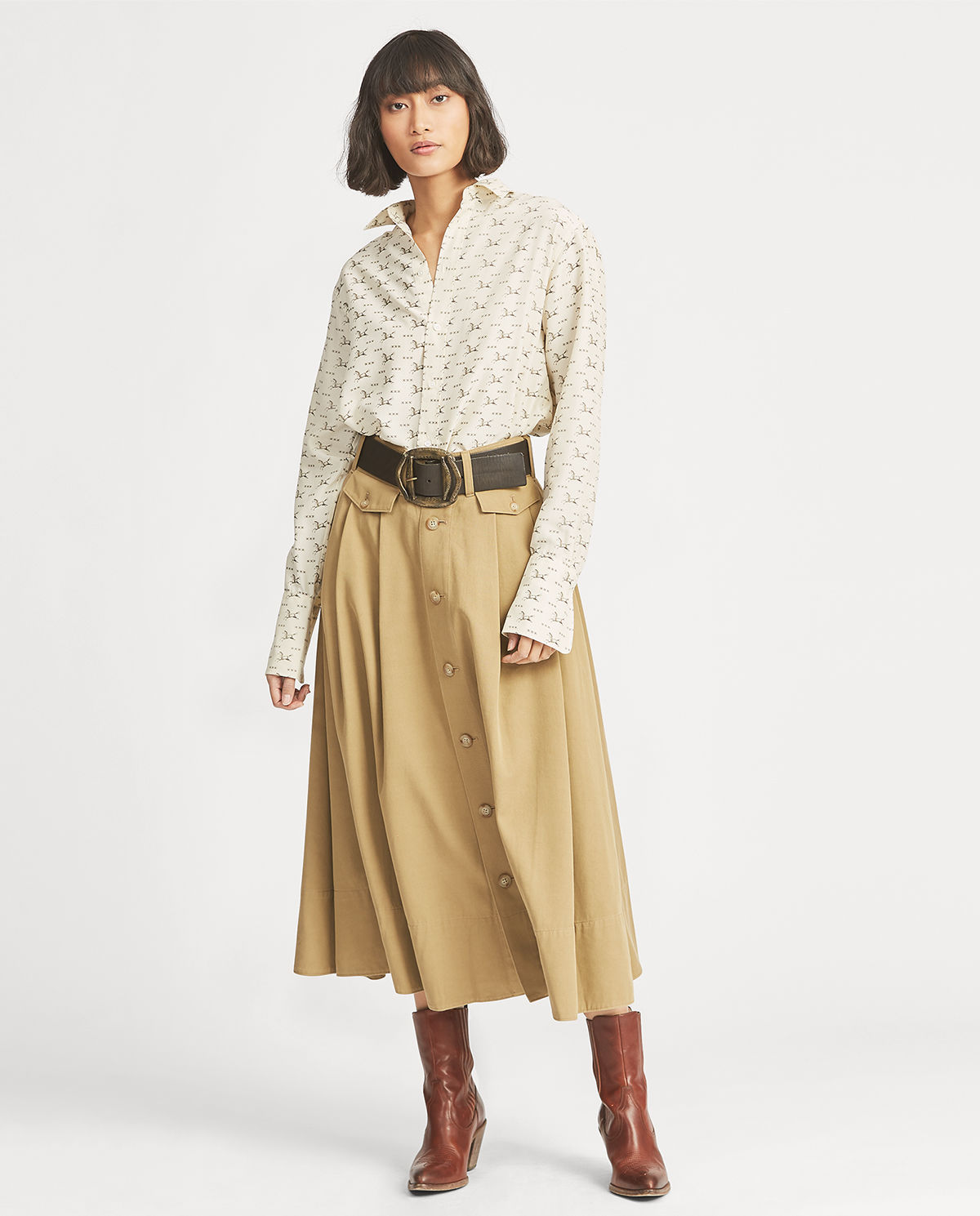 modelka polo ralph lauren spódnica