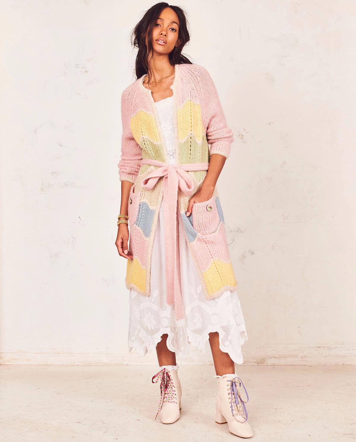 modelka sukienka sweter love shack fancy