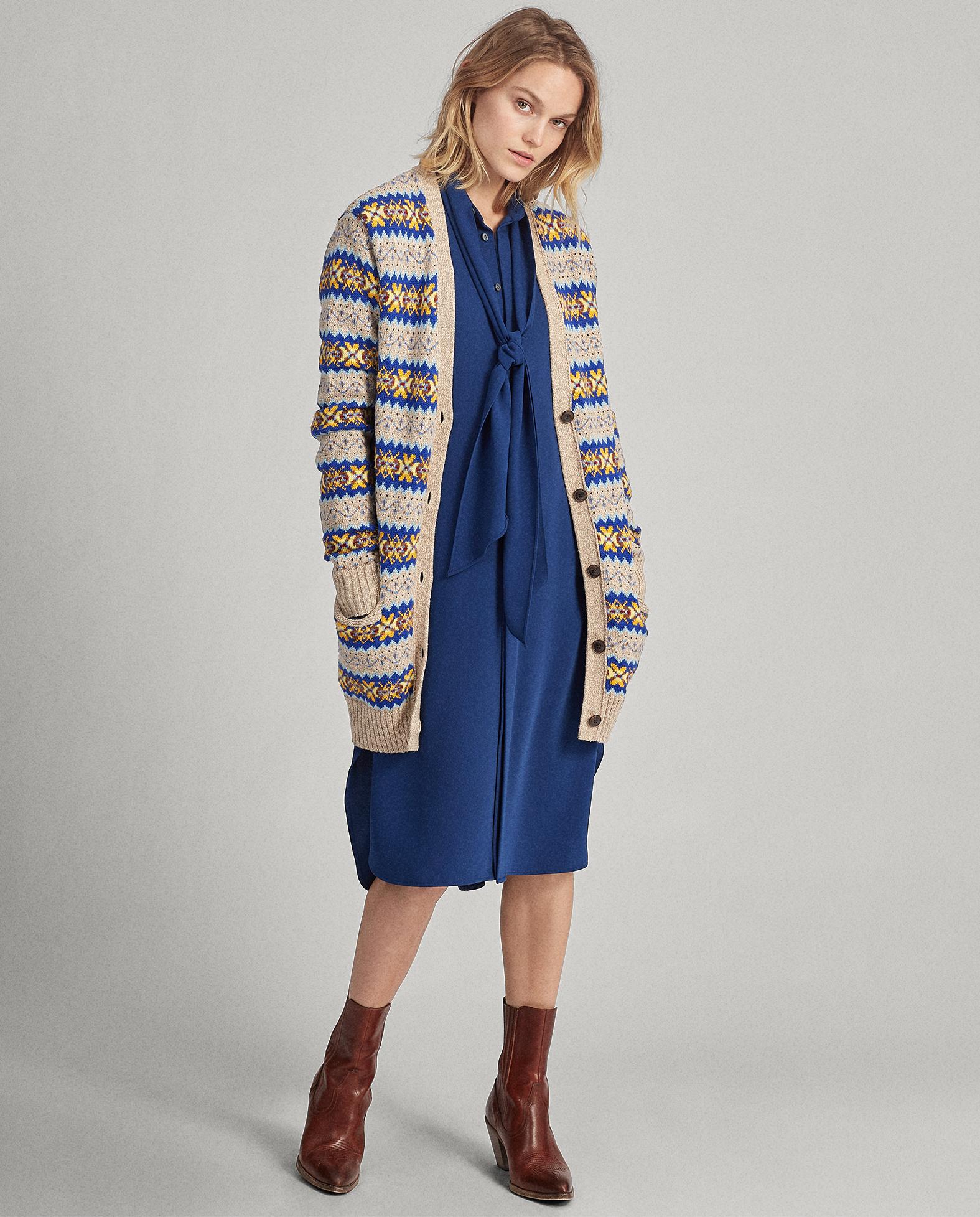 modelka sukienka sweter polo ralph lauren