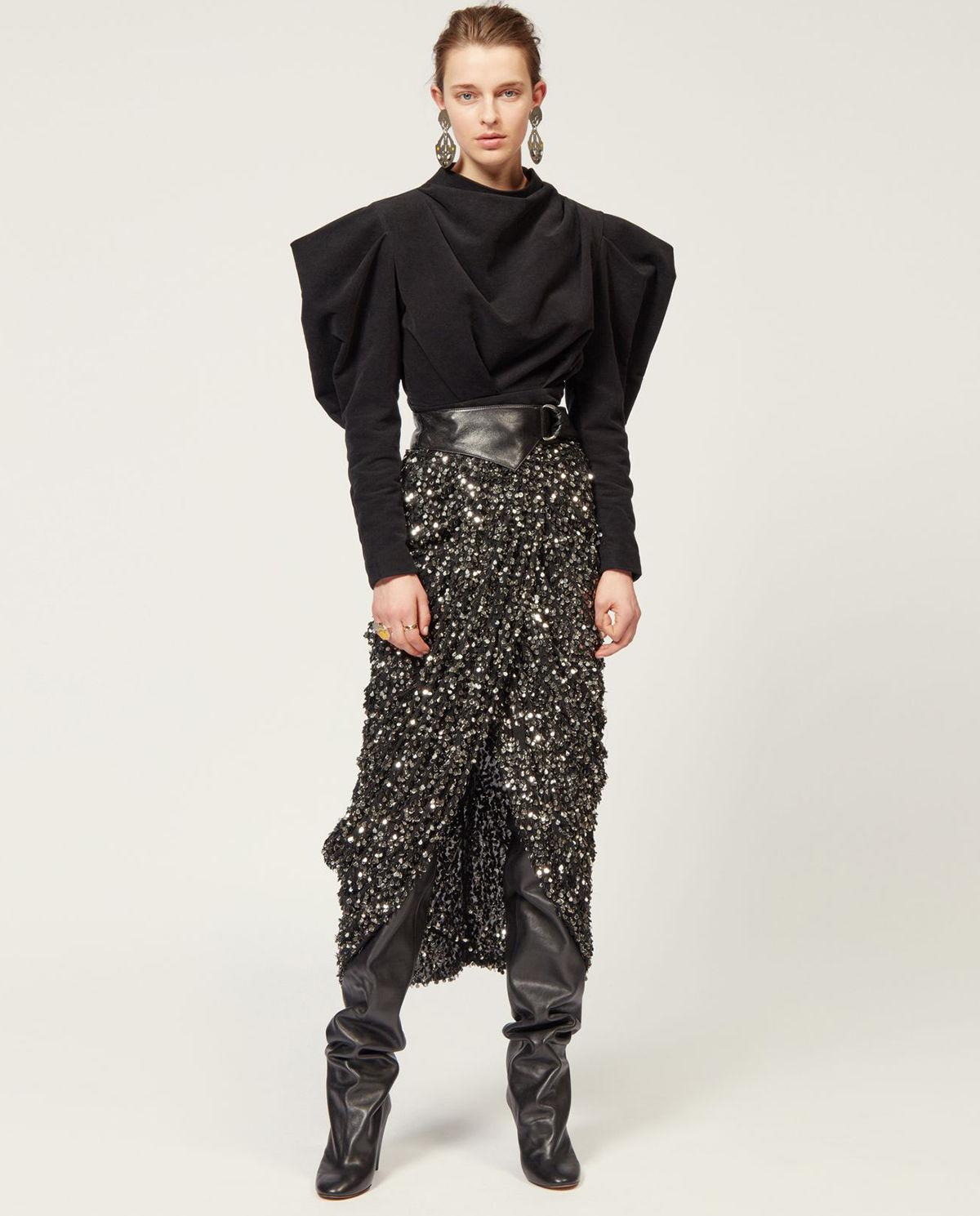 Isabel Marant modelka bluzka spódnica