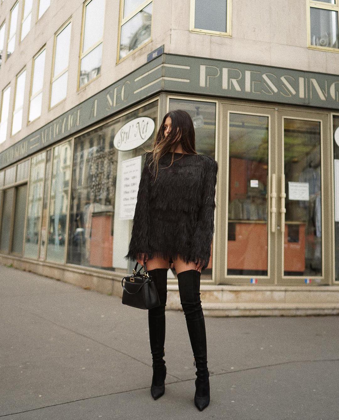paryż kobieta sukienka