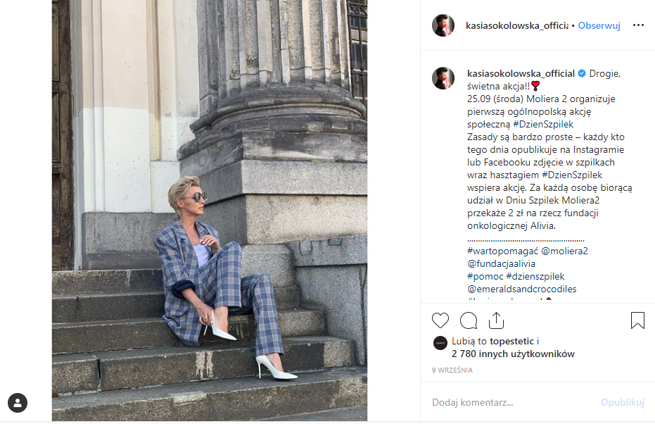 Kasia Sokołowska Instagram szpilki