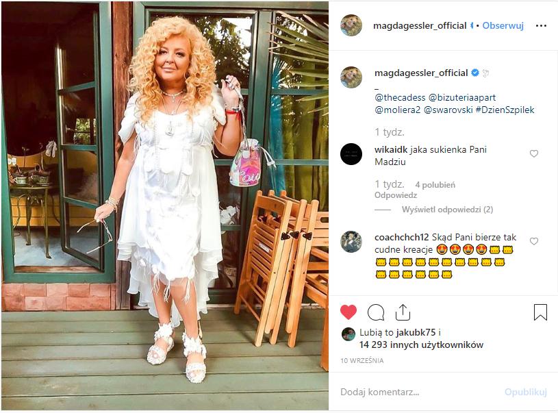 Magda Gessler Instagram szpilki