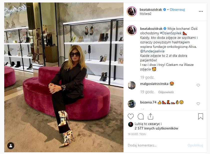 Beata Kozidrak instagram szpilki