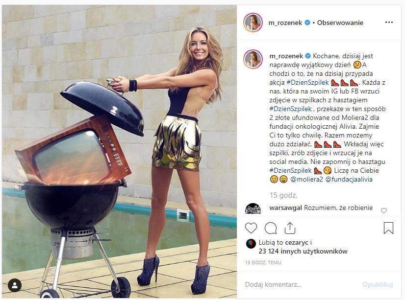 instagram małgorzata rozenek szpilki