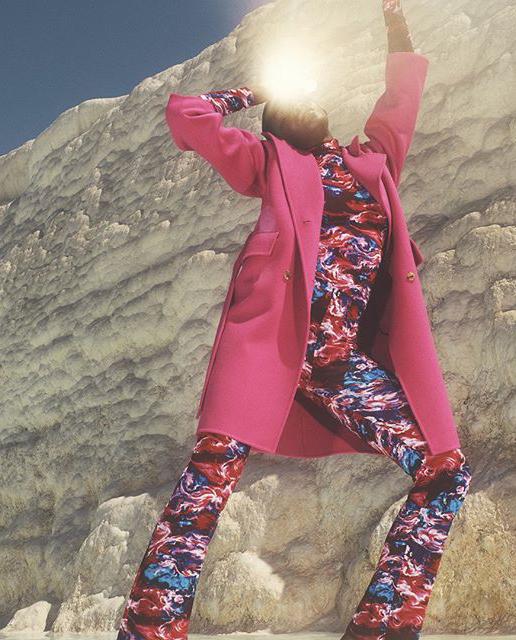 płaszcz różowy kenzo