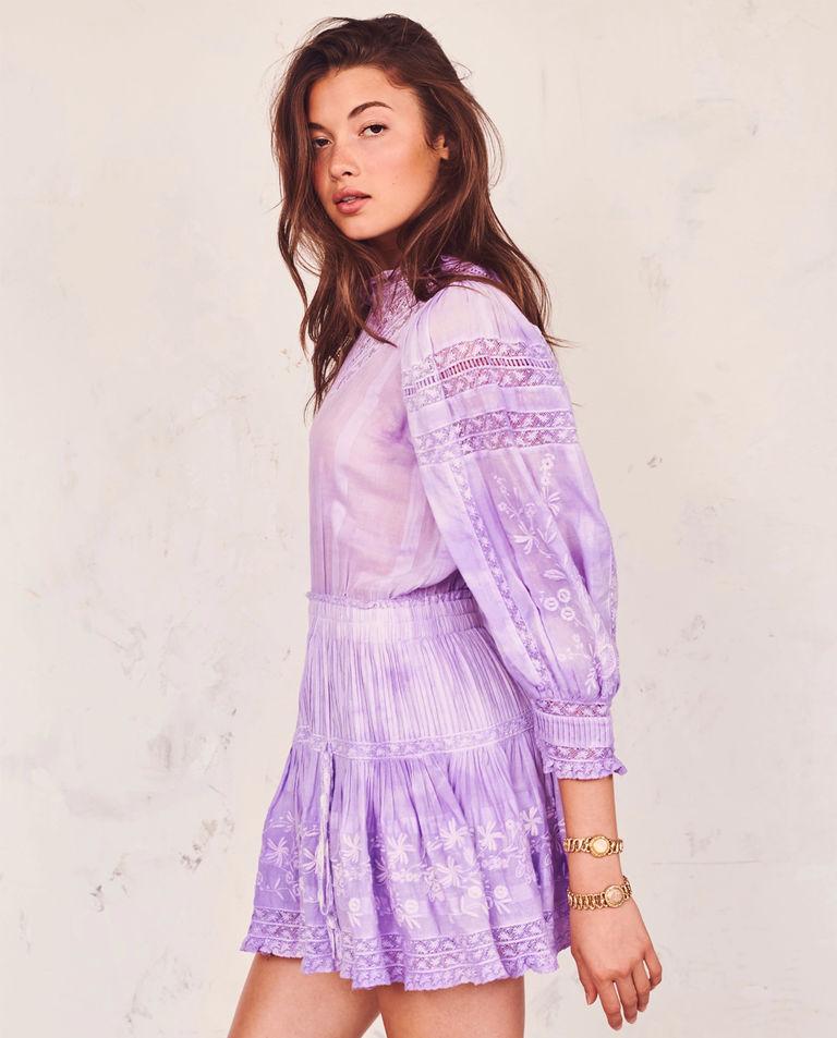 lawendowa koronkowa sukienka viola love shack fancy LD643-493 LAVEN