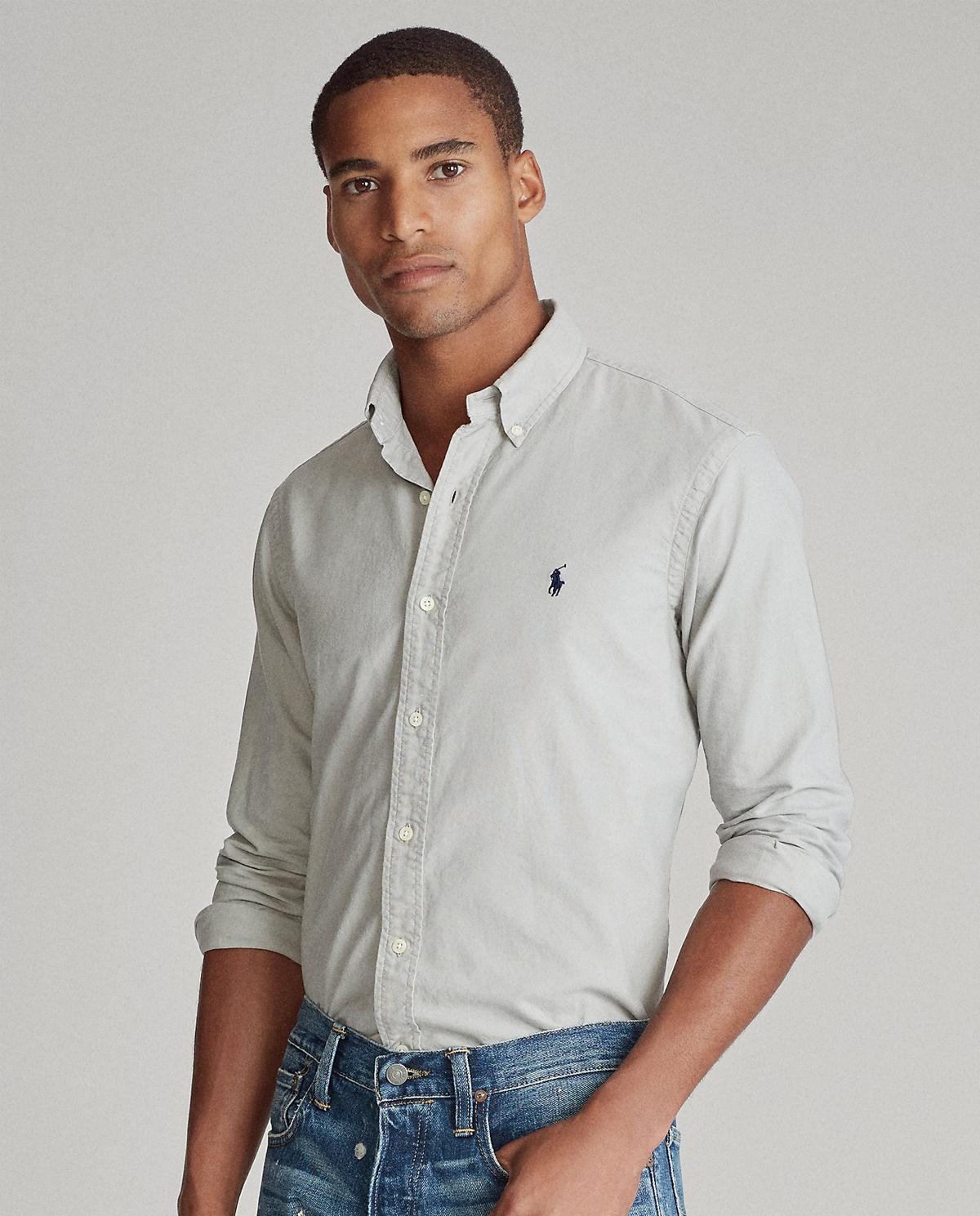 męska szara koszula polo ralph lauren 710736557019