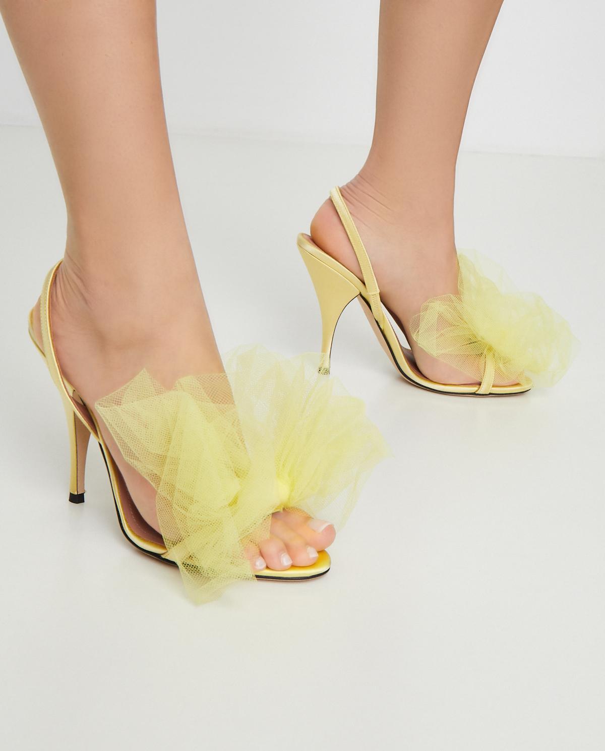 Żółte sandały z kokardą Marco de Vincenzo MXV347 028