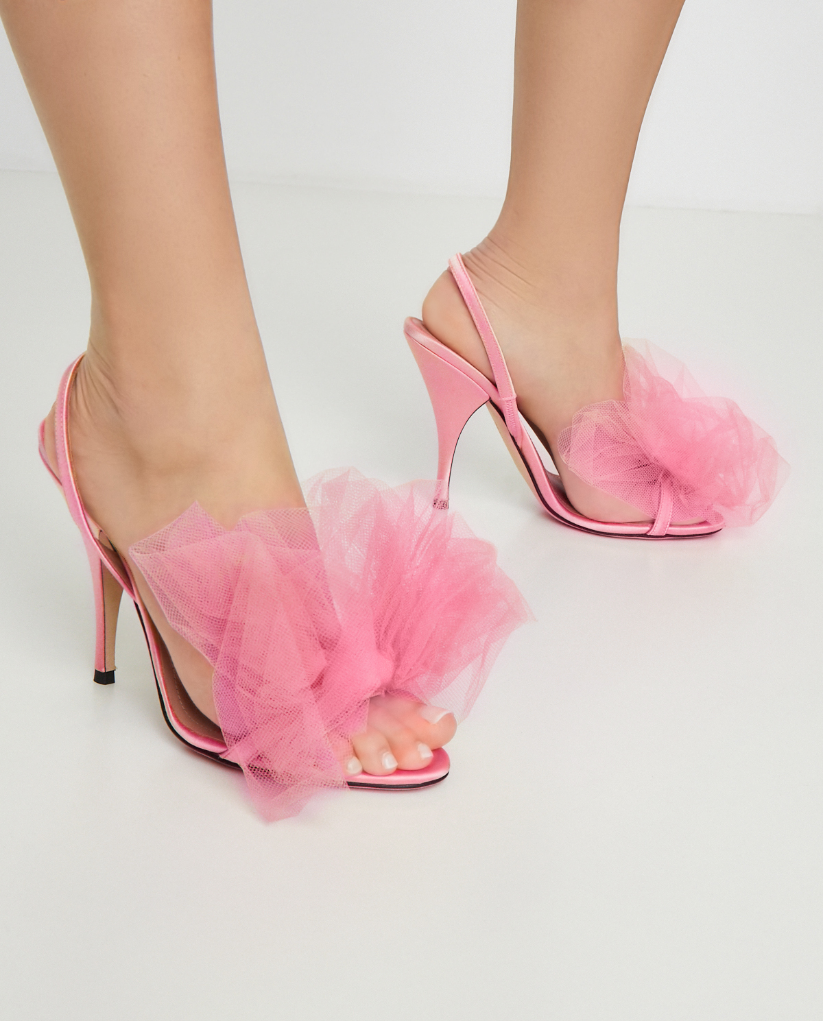 Różowe sandały z kokardą Marco de Vincenzo MXV347 047