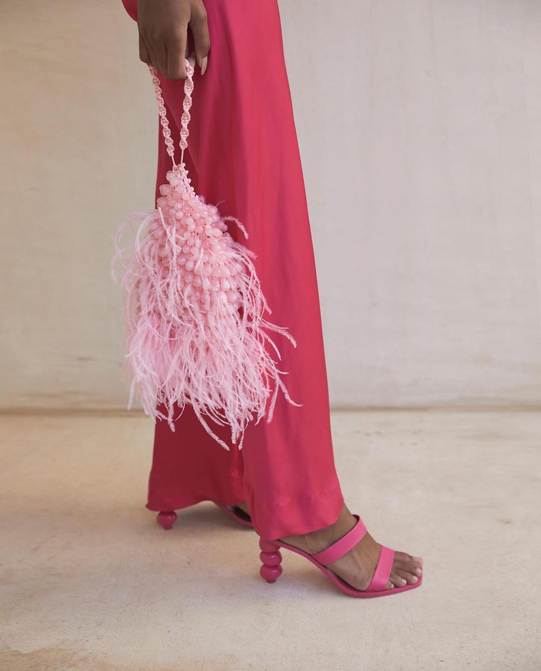 Różowe sandały na obcasie Meta Cult Gaia G-03LT HIBISCUS