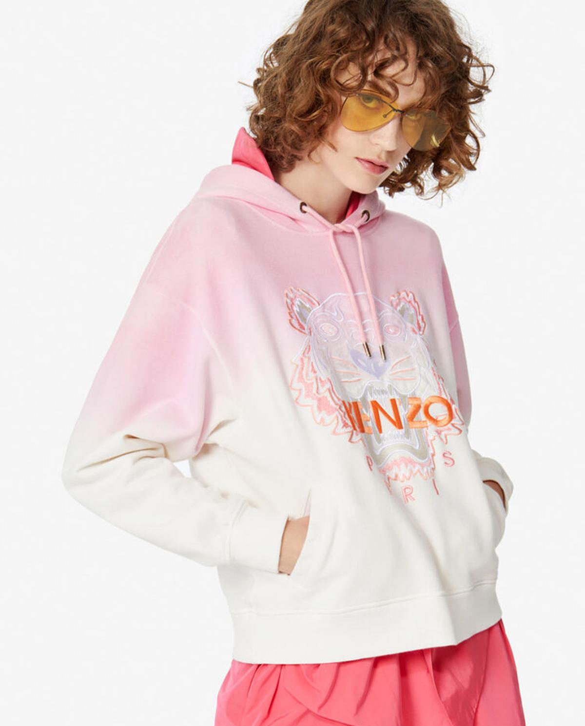 Różowa gradientowa bluza z tygrysem Kenzo PFA52SW8674XG 32