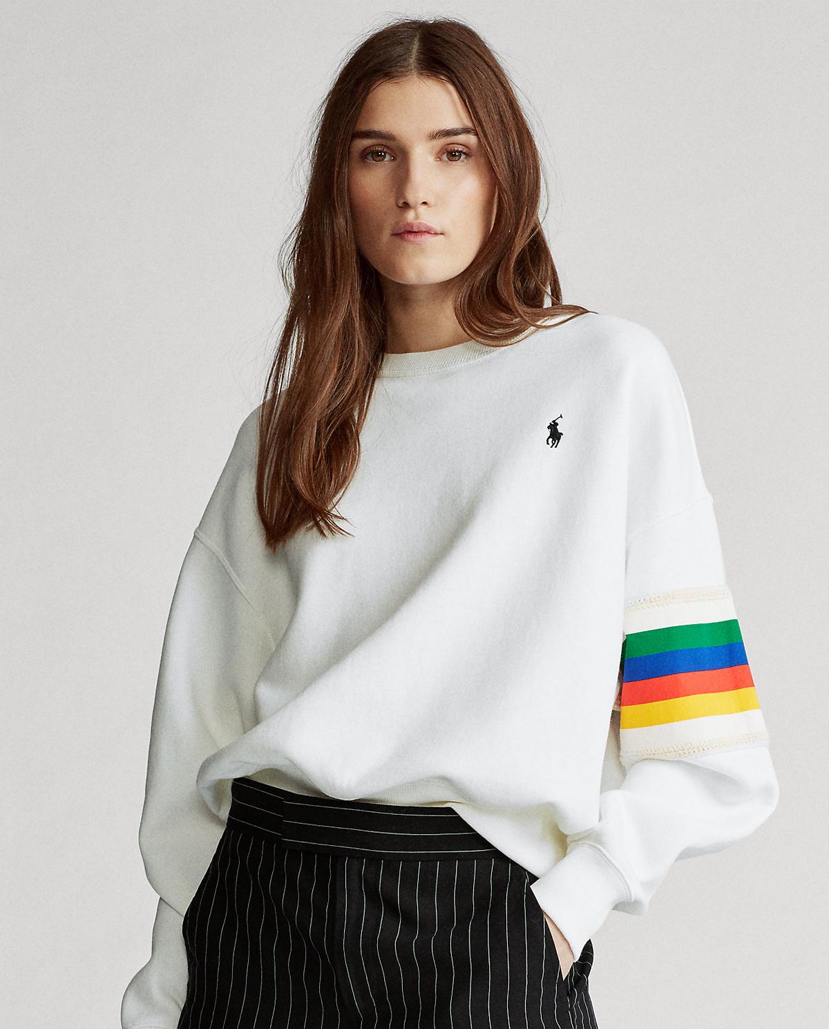 Biała bluza Rainbow Polo Ralph Lauren 211795421001