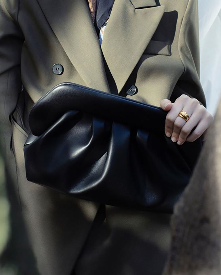 Damska czarna torebka pouch bag Themoire TMF20BN1 BLACK