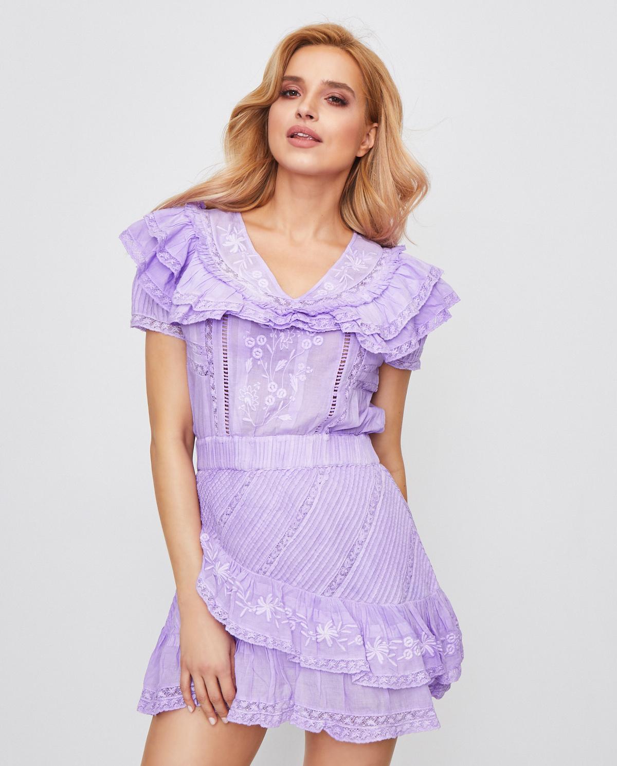 Lawendowa sukienka Bonita Love Shack Fancy LD624-493 LAVEN