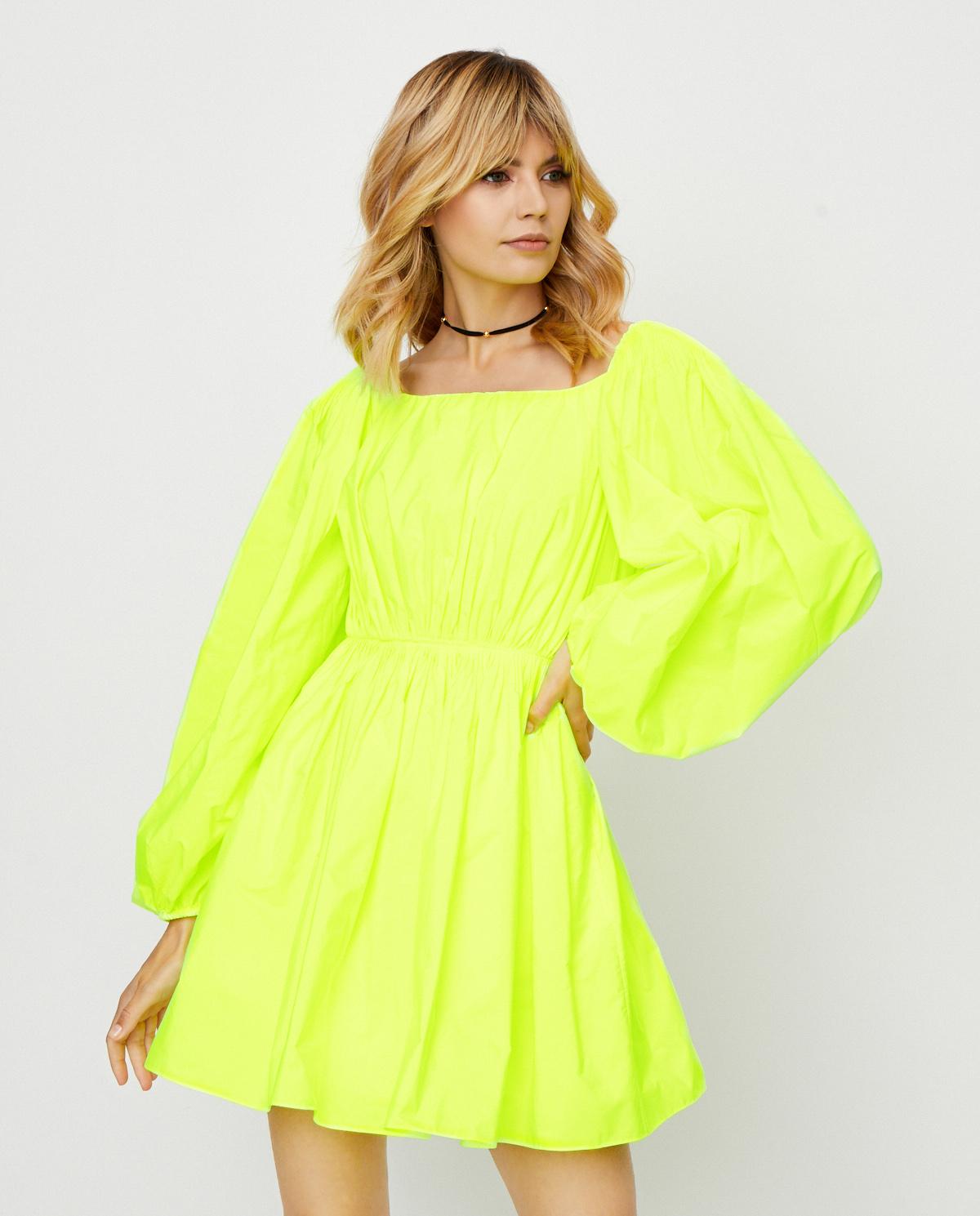 Neonowa sukienka mini Valentino TB0VARU05CV BC5