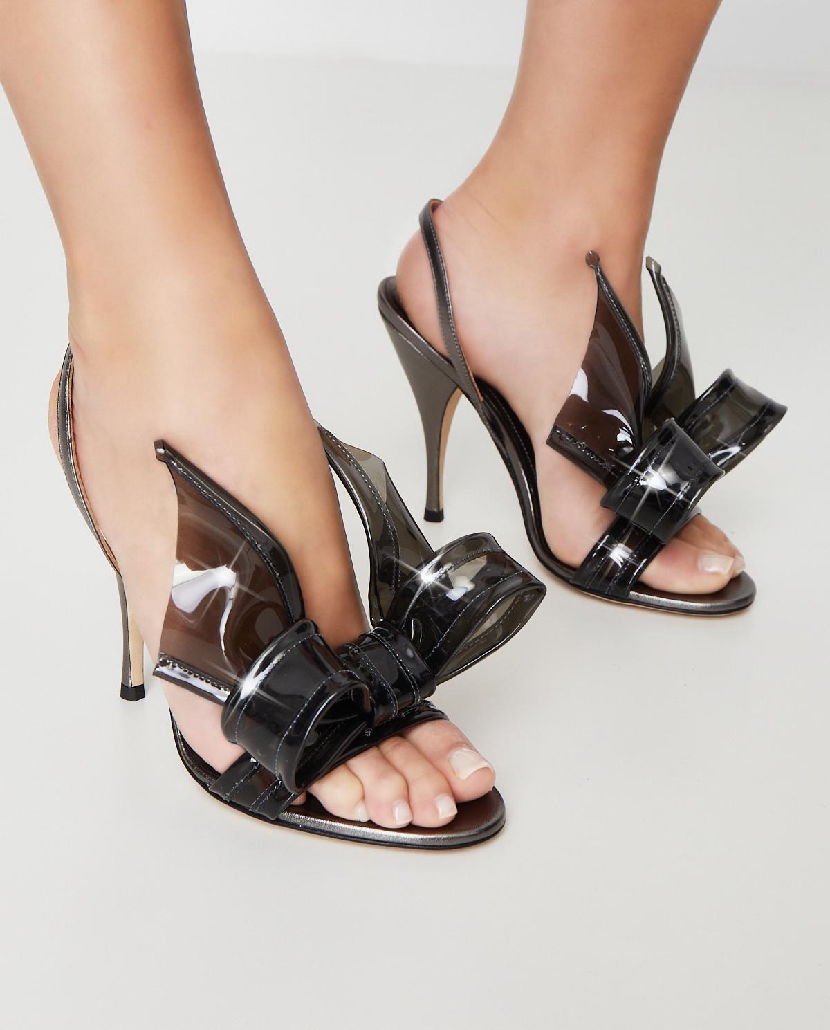 Szare sandały z kokardą Marco de Vincenzo MXV310 091
