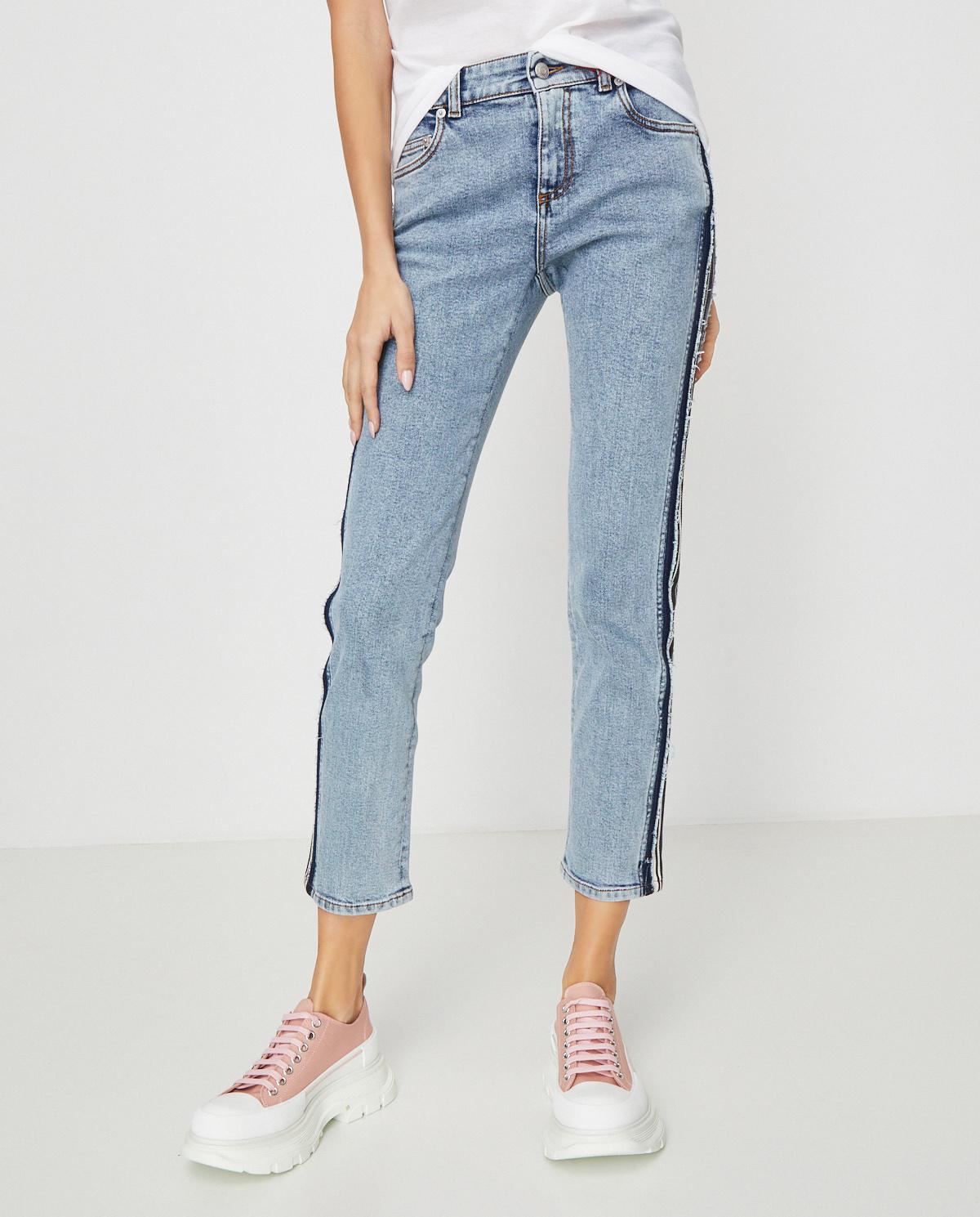 Spodnie jeansowe z lampasami Alexander McQueen 620055 QMAAQ 4064