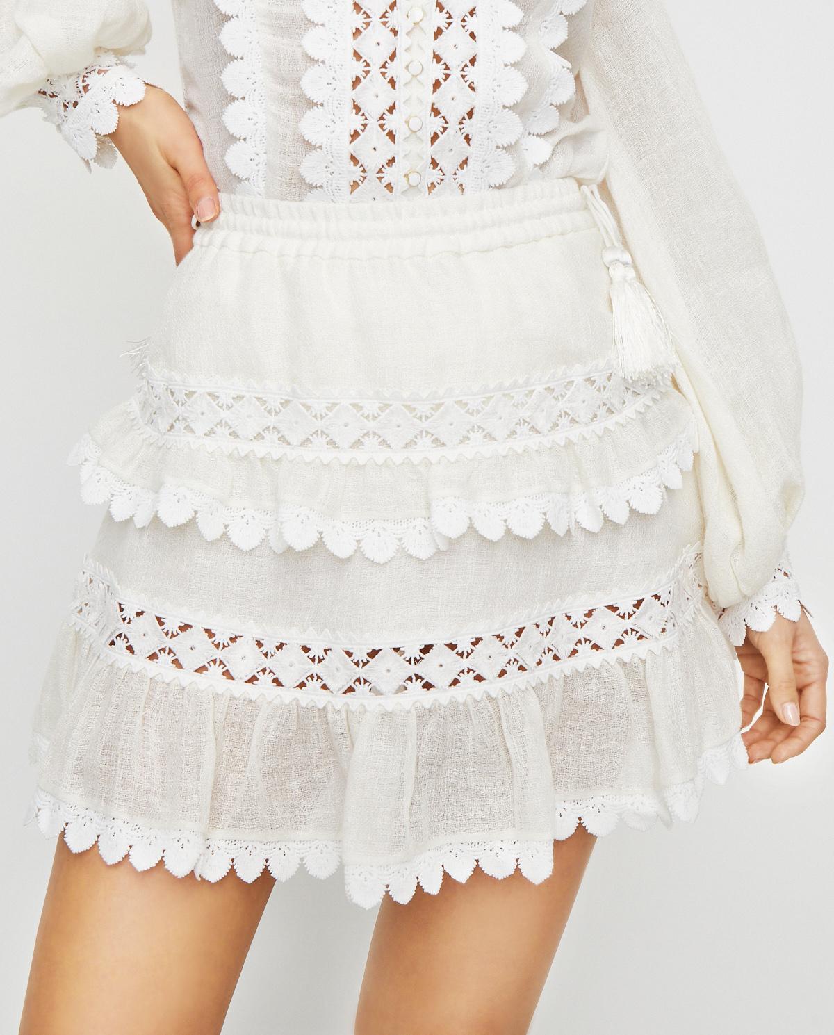 Damska biała spódnica Utopia Ixiah 92-60133 WHITE