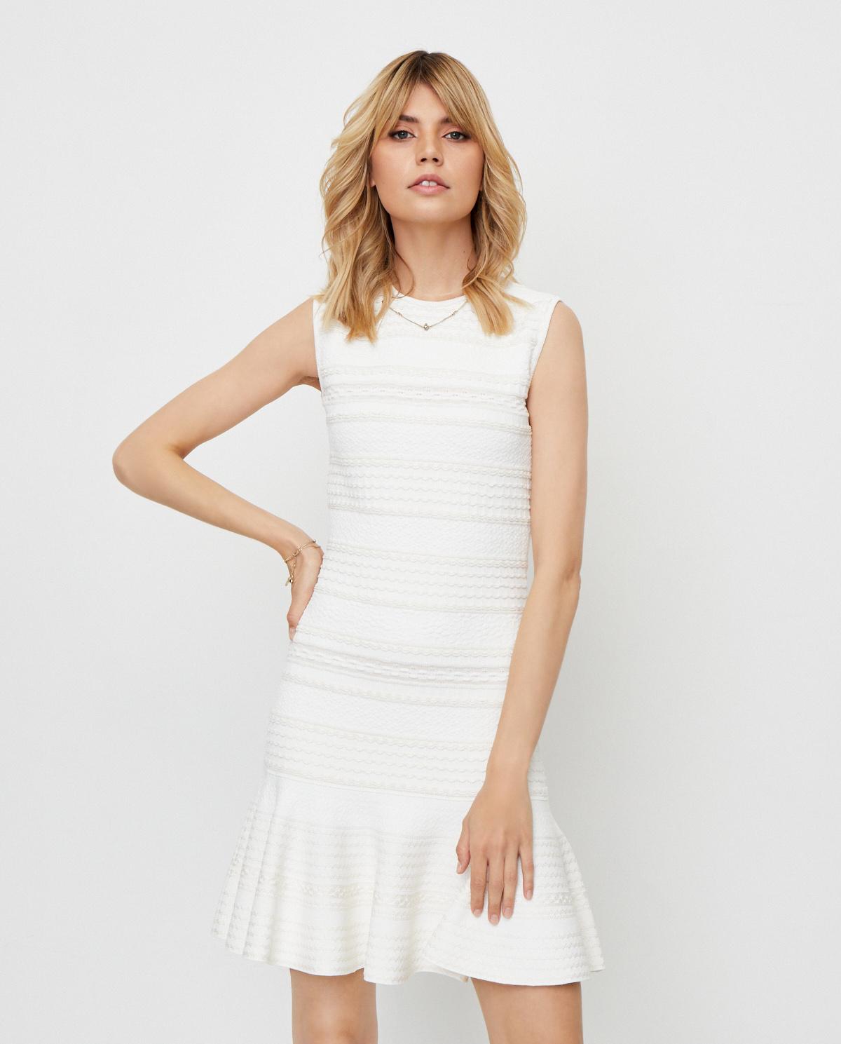 Biała sukienka mini Alexander McQueen 610719 Q1AL3 9004