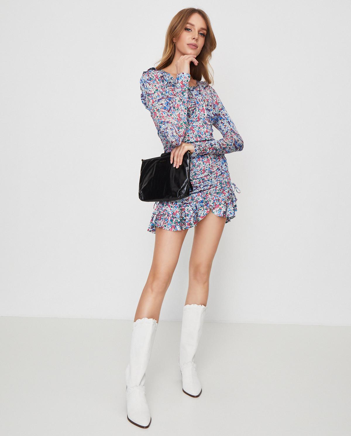 Sukienka z kwiatowym wzorem Sabia Isabel Marant RO1668-20E018I 30BU
