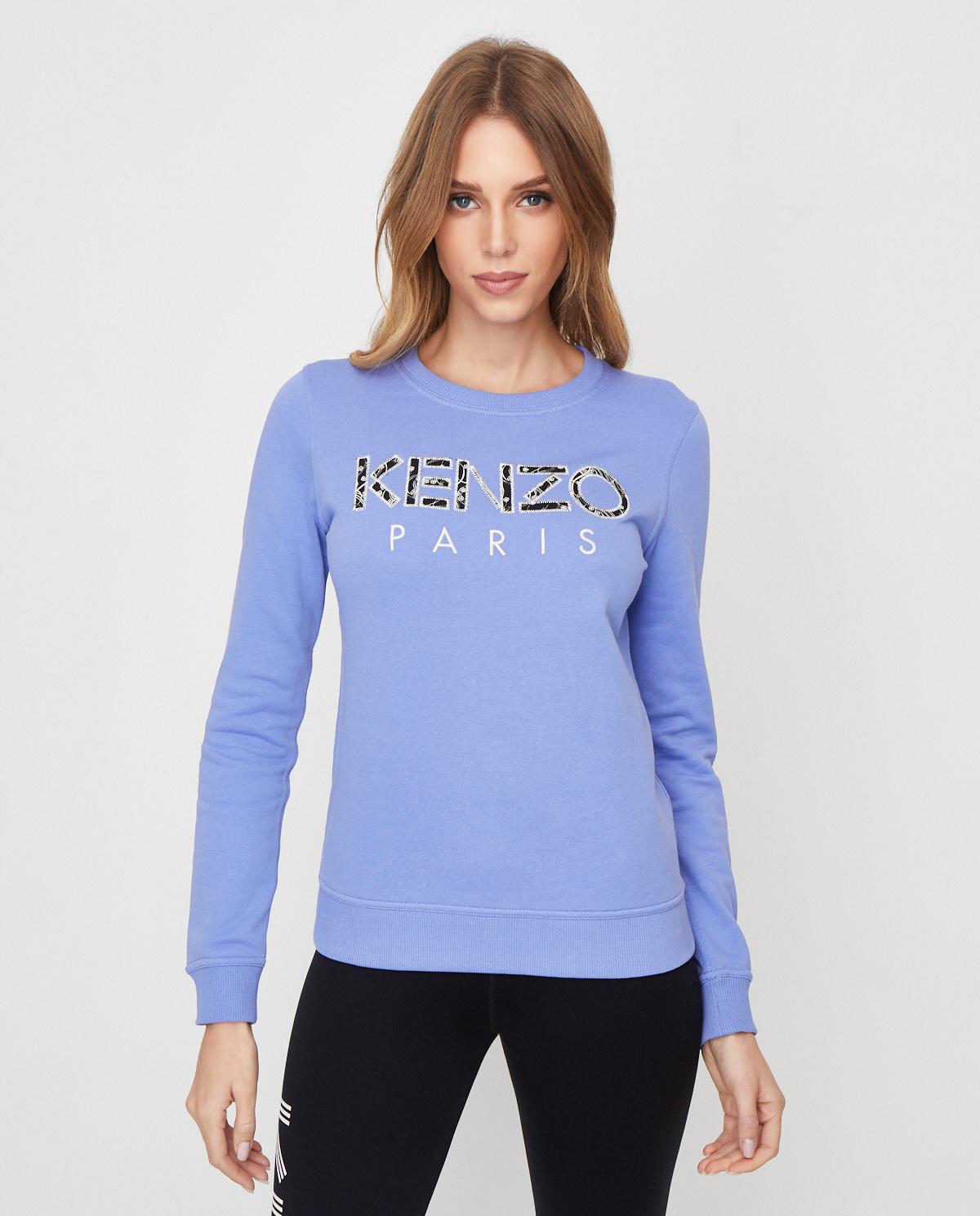 Niebieska bluza z logo Kenzo PFA52SW707962 66
