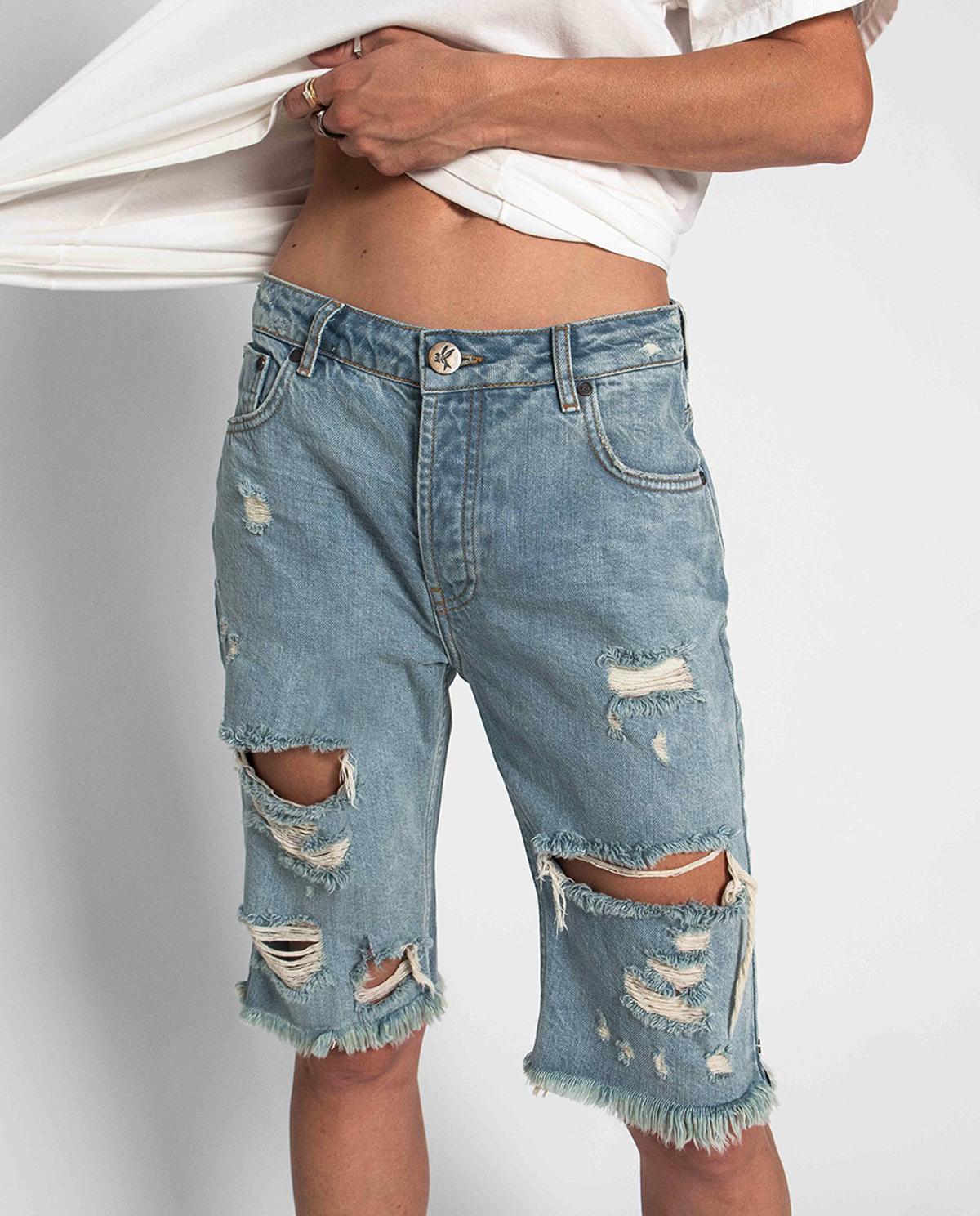 Damskie jeansowe spodenki Kansas Truckers Oneteaspoon 23013 KANSAS