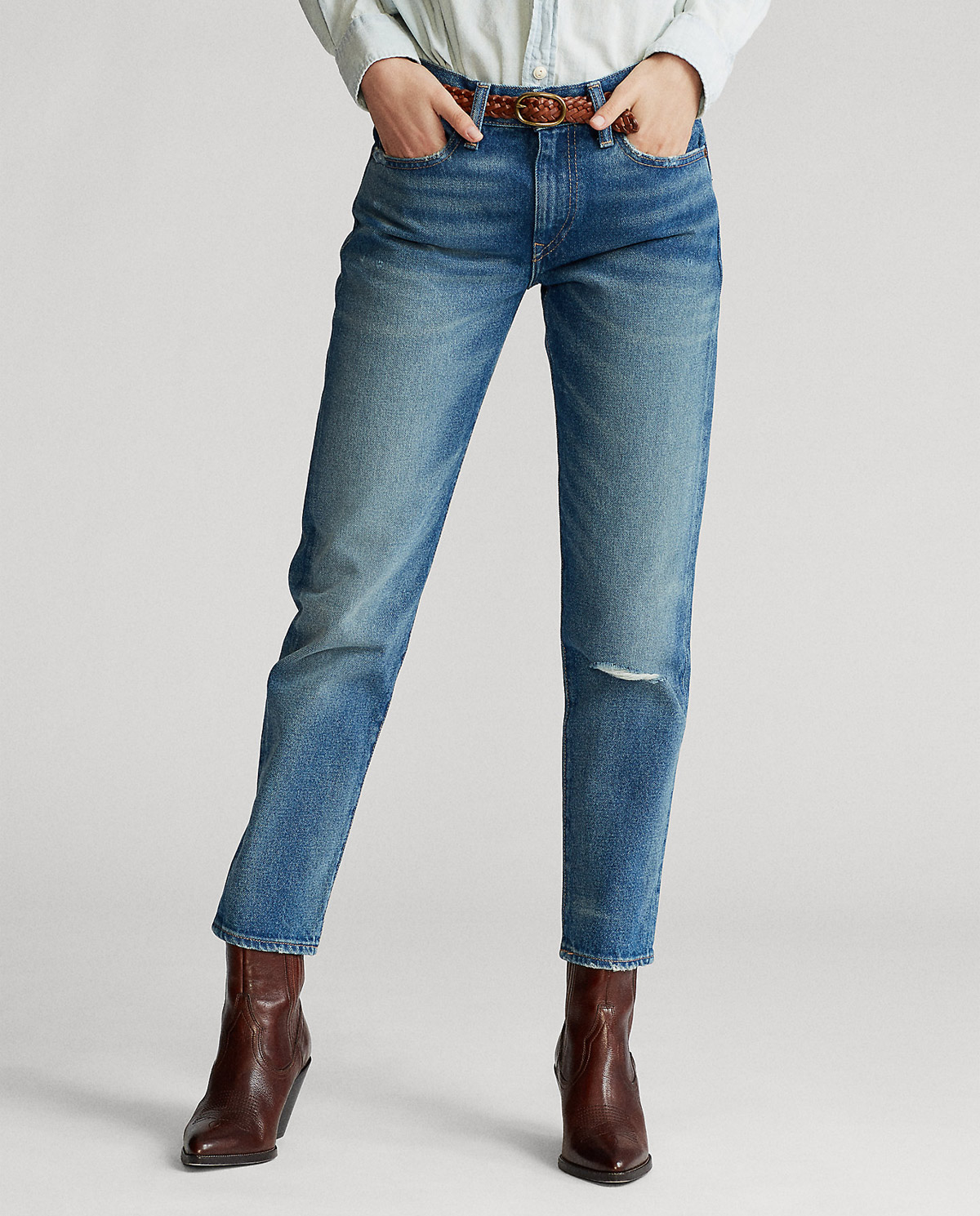 Damskie jeansy Boyfriend Polo Ralph Lauren 211777202001