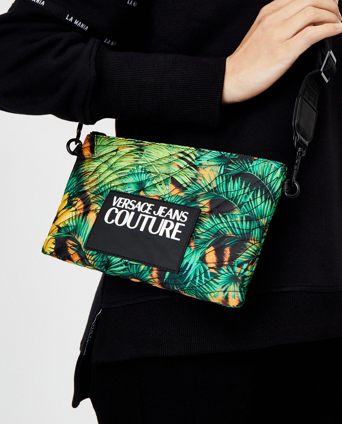 Damska zielona torebka z logo Versace Jeans E1VVBBHX71490982