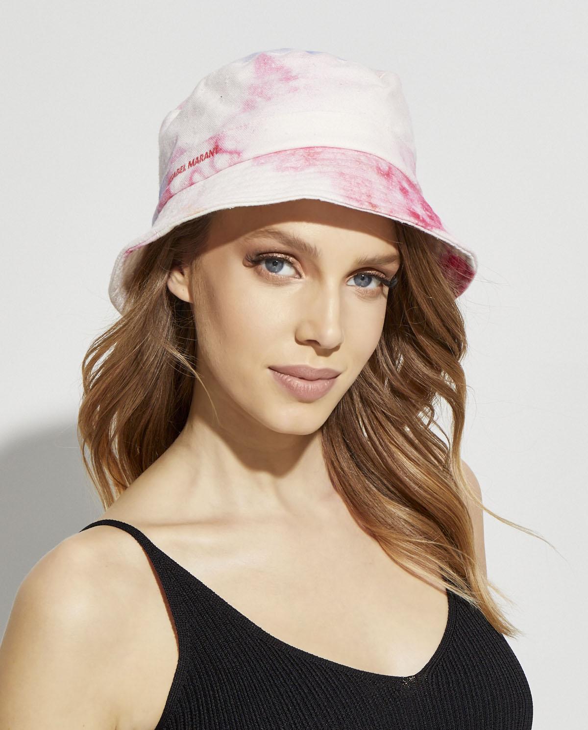Damski kapelusz z bawełny Haley Isabel Marant CU0026-20E021A 40PK