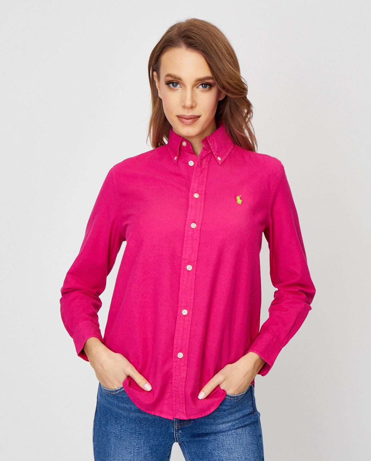 Damska różowa koszula z bawełny Relaxed Fit Polo Ralph Lauren 211780679001