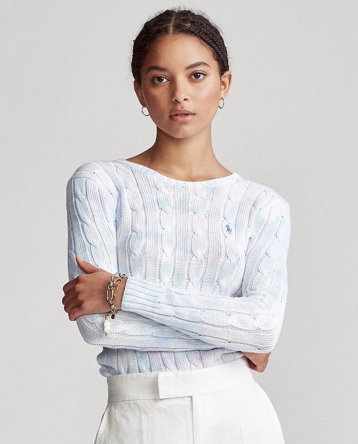 Damski pastelowy sweter z bawełny Polo Ralph Lauren 211797201001