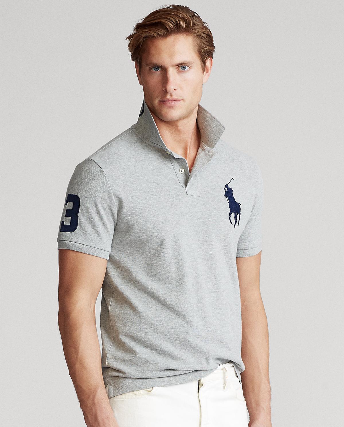 Męska koszulka polo Slim Fit Mesh 710781433004
