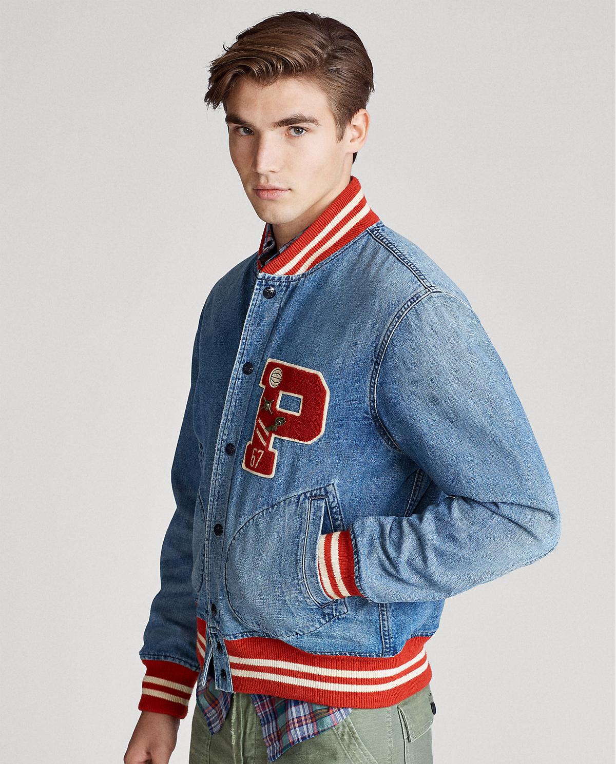 Męska jeansowa kurtka bejsbolówka Polo Ralph Lauren 710786276001