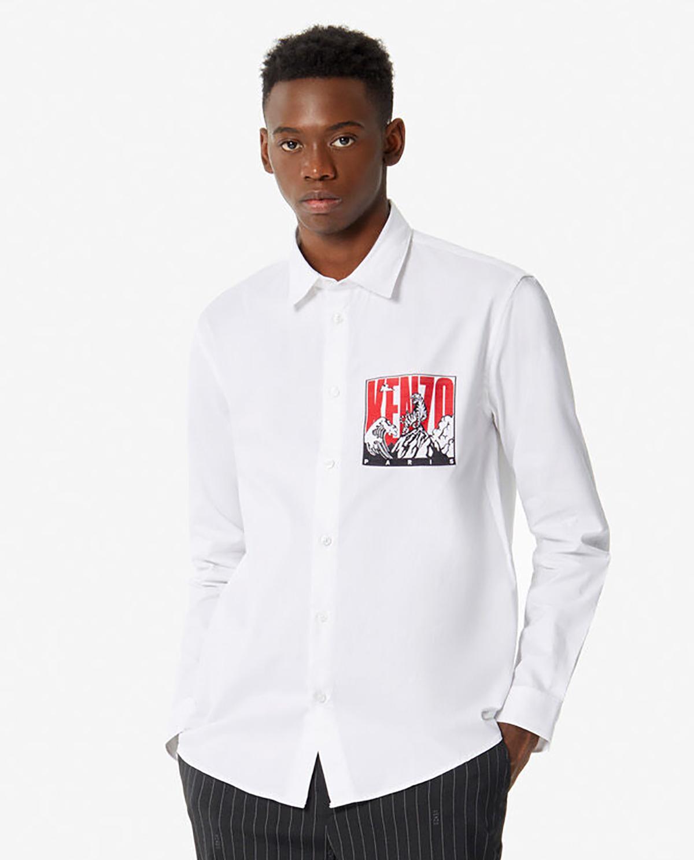 Męska biała koszula Tiger Mountain Kenzo PF965CH4271JD 01