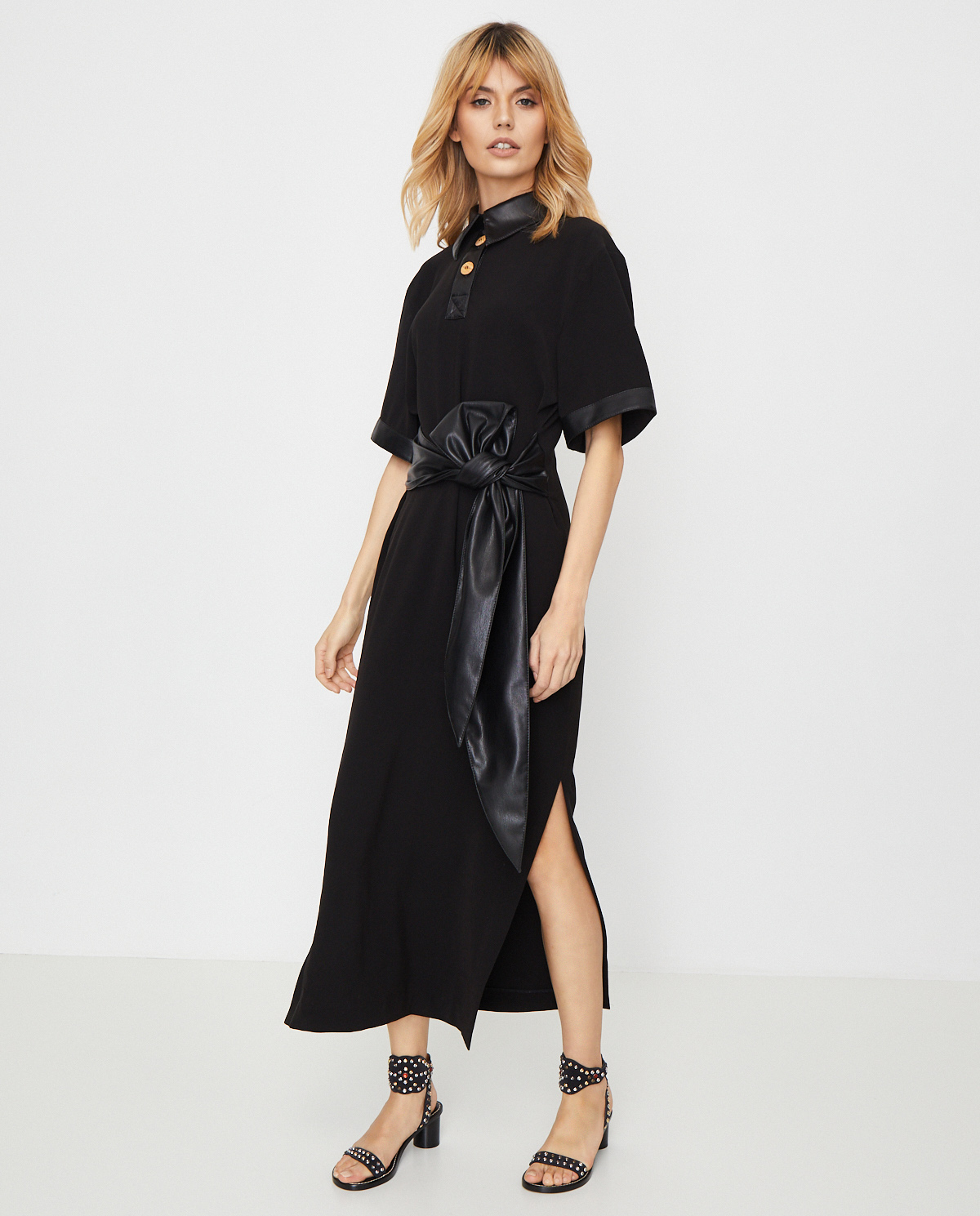 Damska czarna sukienka Leila Nanushka LEILA BLACK