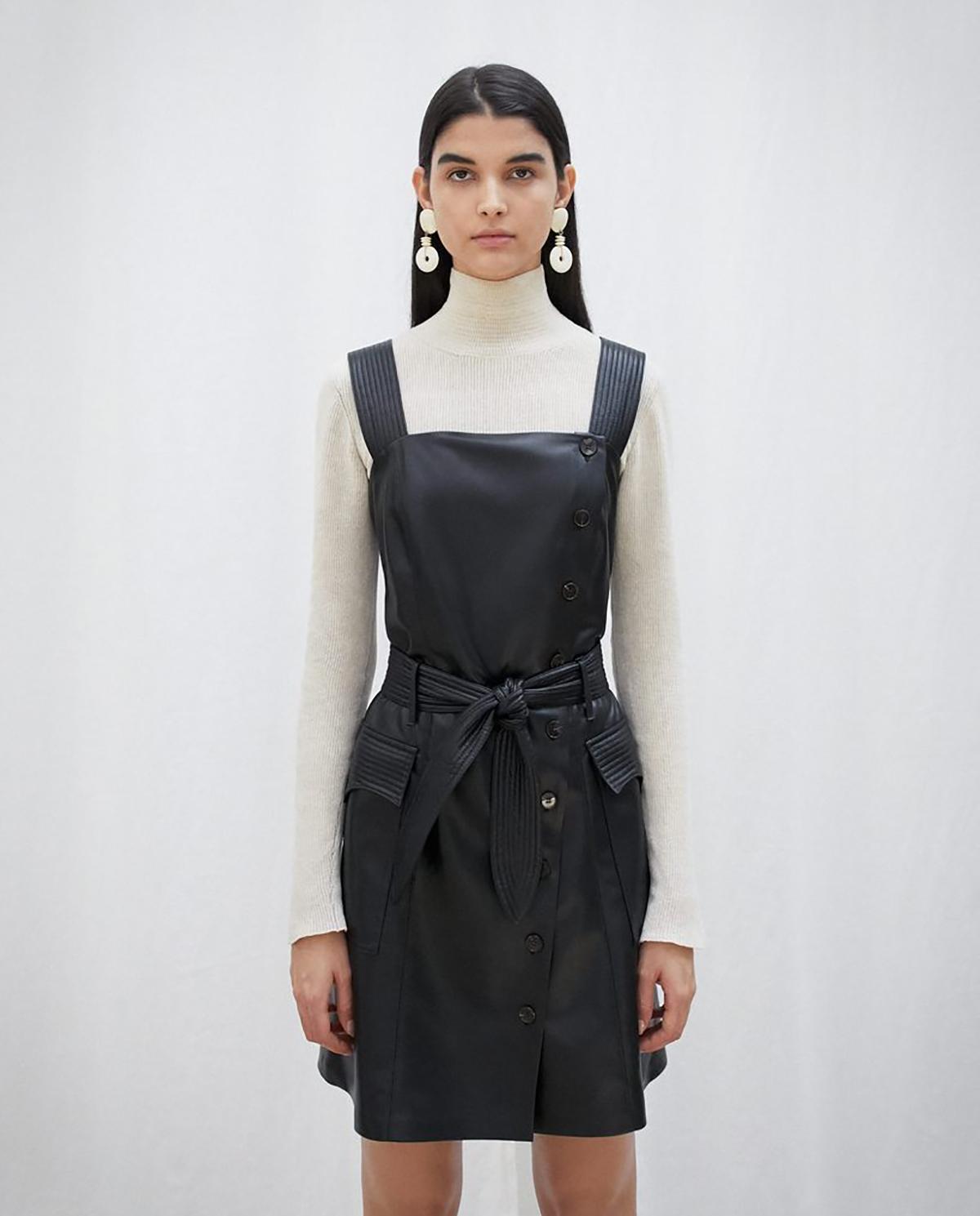 Sukienka ze skóry wegańskiej Charo Nanushka CHARO BLACK