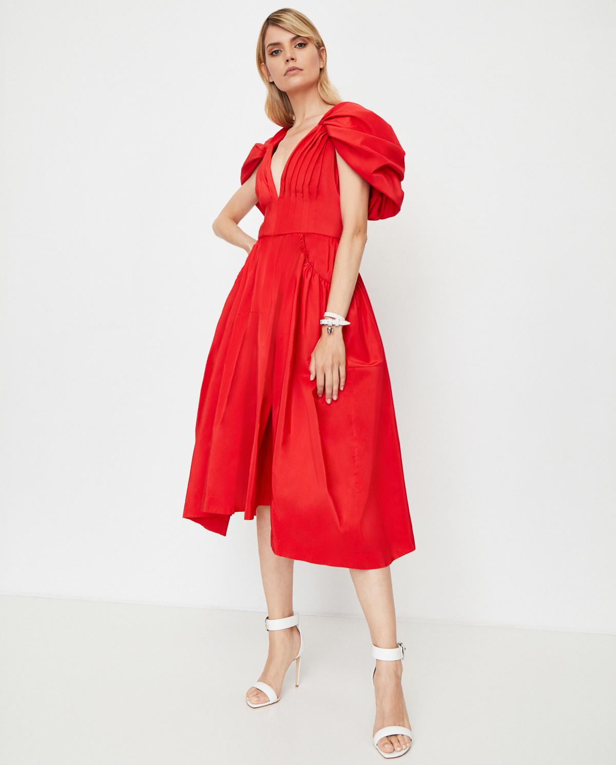 czerwona sukienka Alexander Mcqueen 620932 QEAA8 6610