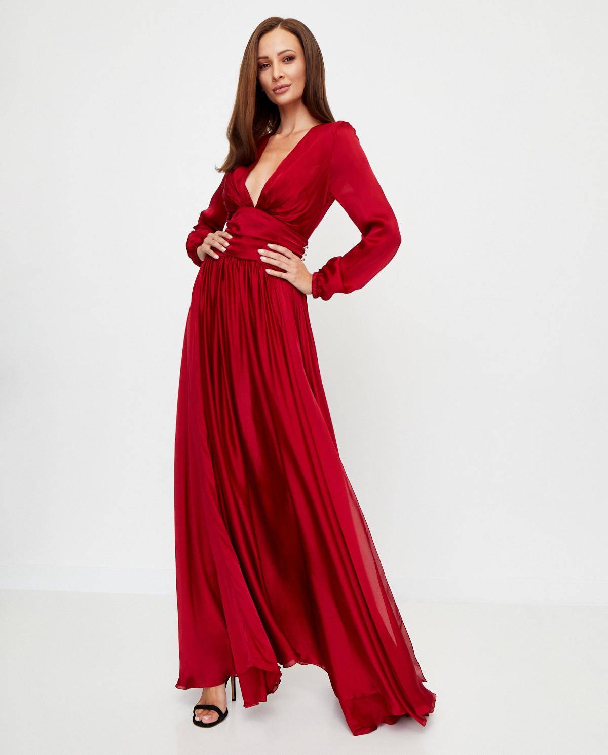 czerwona sukienka z kryształami Swarovskiego Alexandre Vauthier 203DR1346 0193-1103 LACQUER