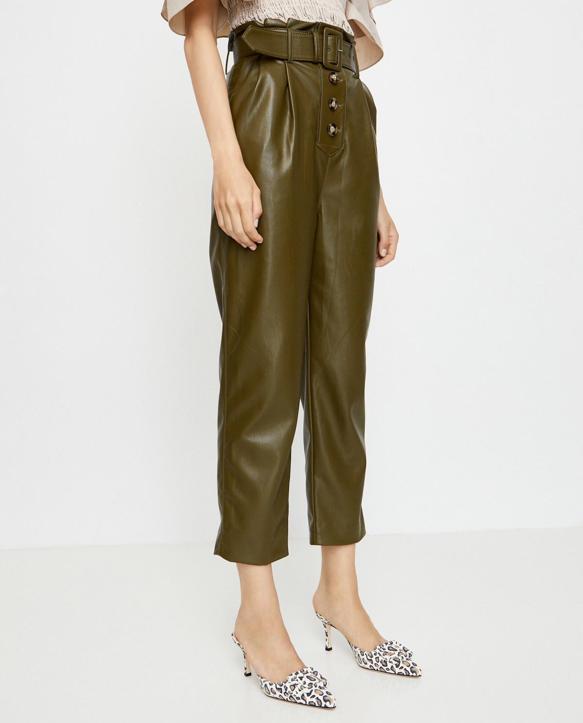 zielone spodnie marki Self-Portrait PF20-136A OLIVE GREEN
