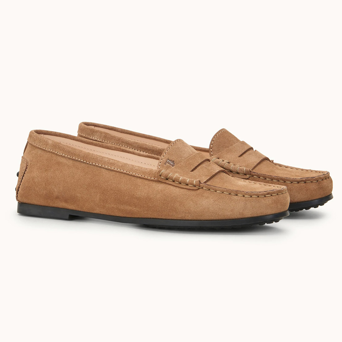 Zamszowe damskie loafery Gommino City Tod's XXW74B00010RE0S812