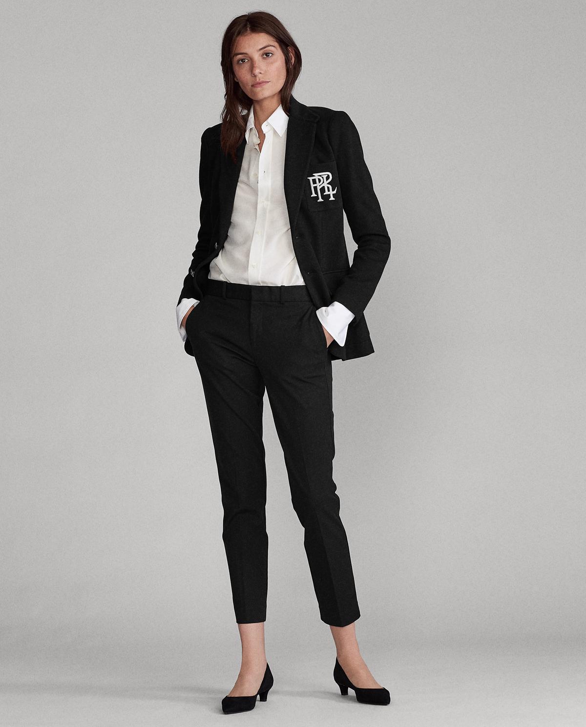 Damskie czarne spodnie Slim fit Polo Ralph Lauren 211752934001